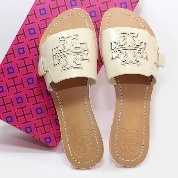 663771c85 Tory Burch Melinda Slide Leather Dulce De Leche